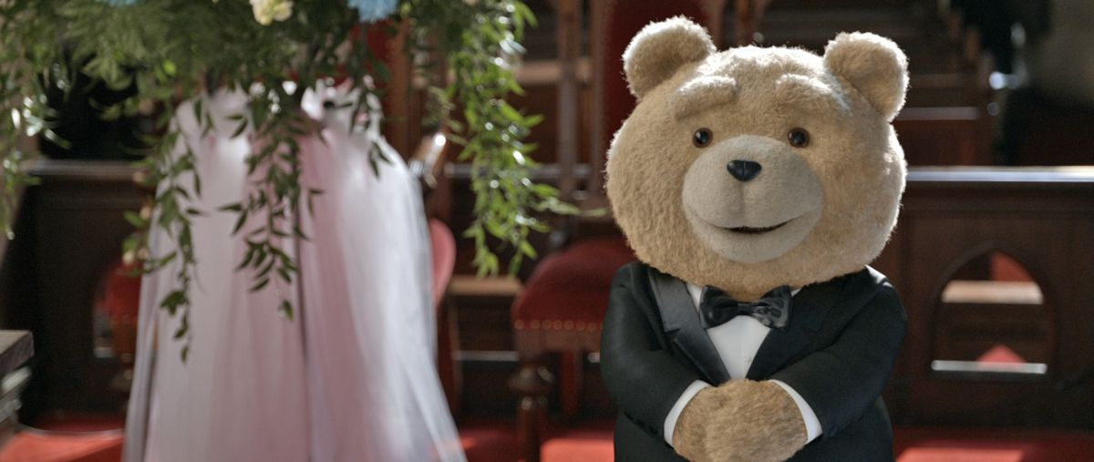 Ted 2: Ted pronto per le sue nozze in una scena del film