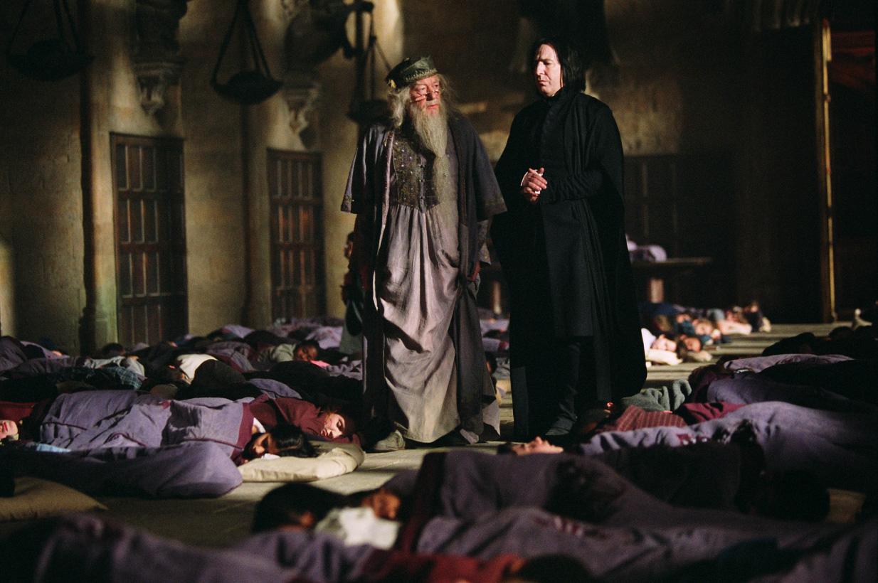 Harry Potter e il prigioniero di Azkaban - Gambon e Rickman in una scena