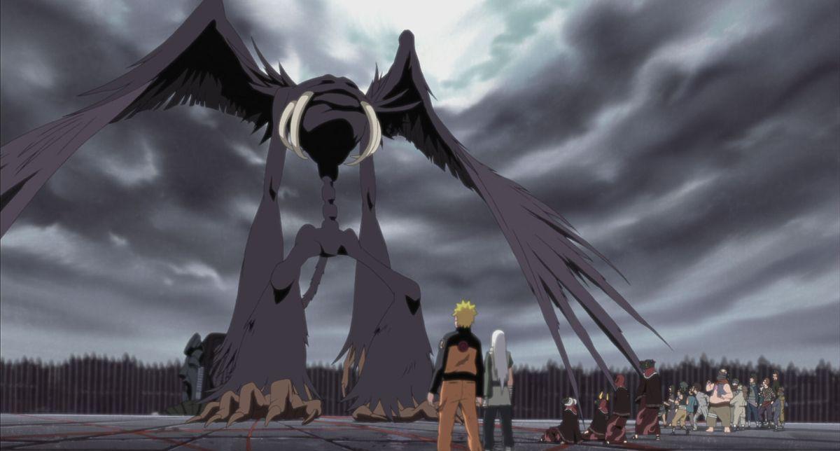 Naruto - Il film: La prigione insanguinata, una scena del film animato