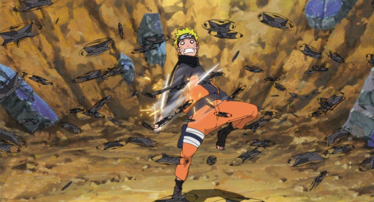 Naruto - Il film: La prigione insanguinata, l'impavido Naruto in un'immagine del film animato
