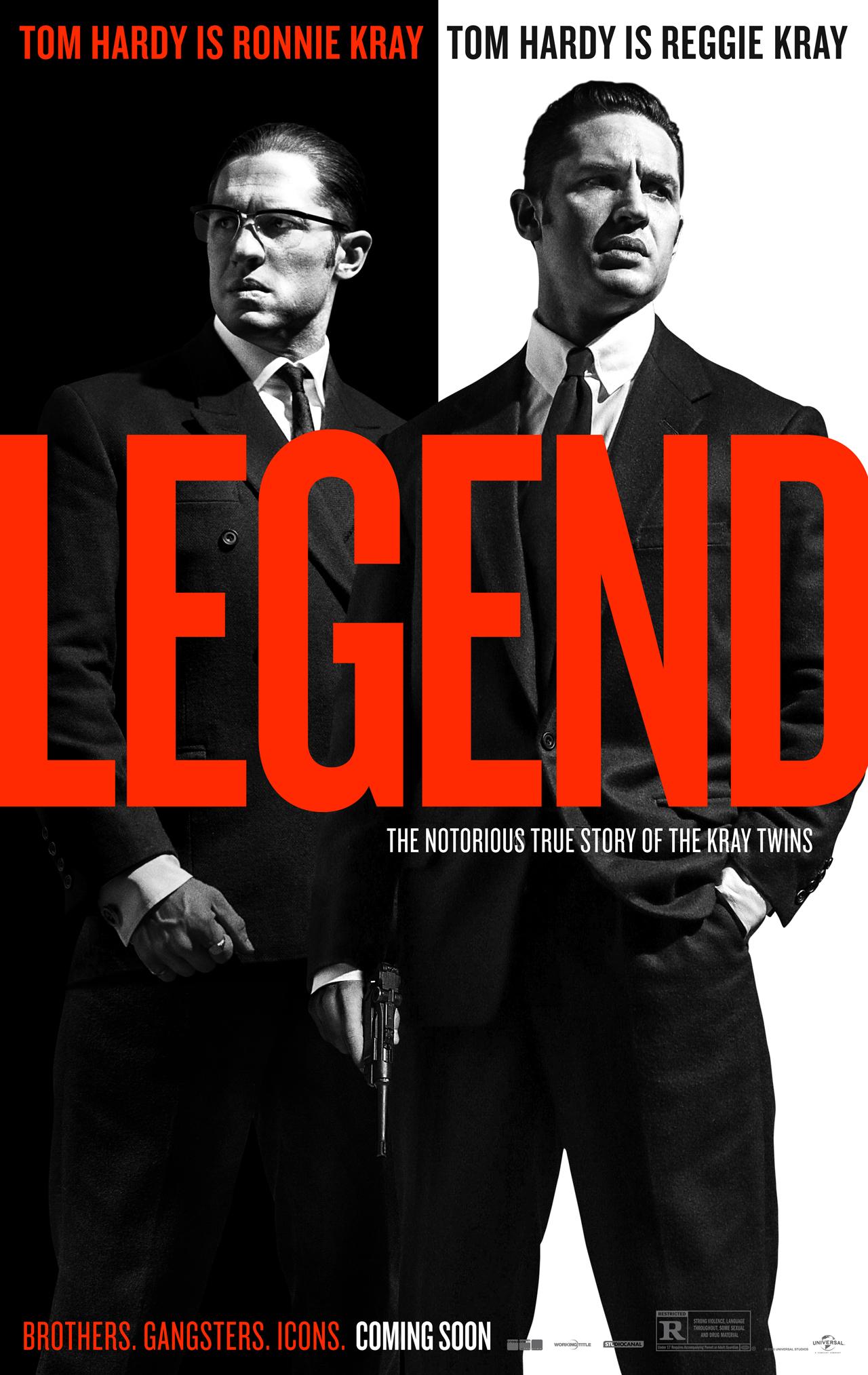 Legend: il poster del film con protagonista Tom Hardy