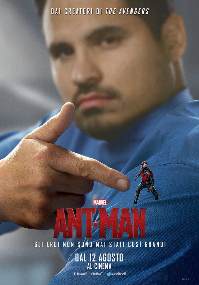 Ant-Man: Michael Peña nel character poster italiano di Luis