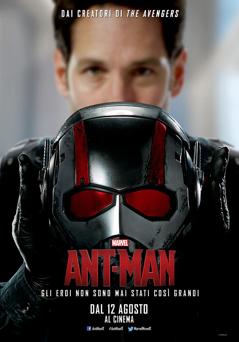 Ant-Man: Paul Rudd nel character poster italiano di Scott Lang