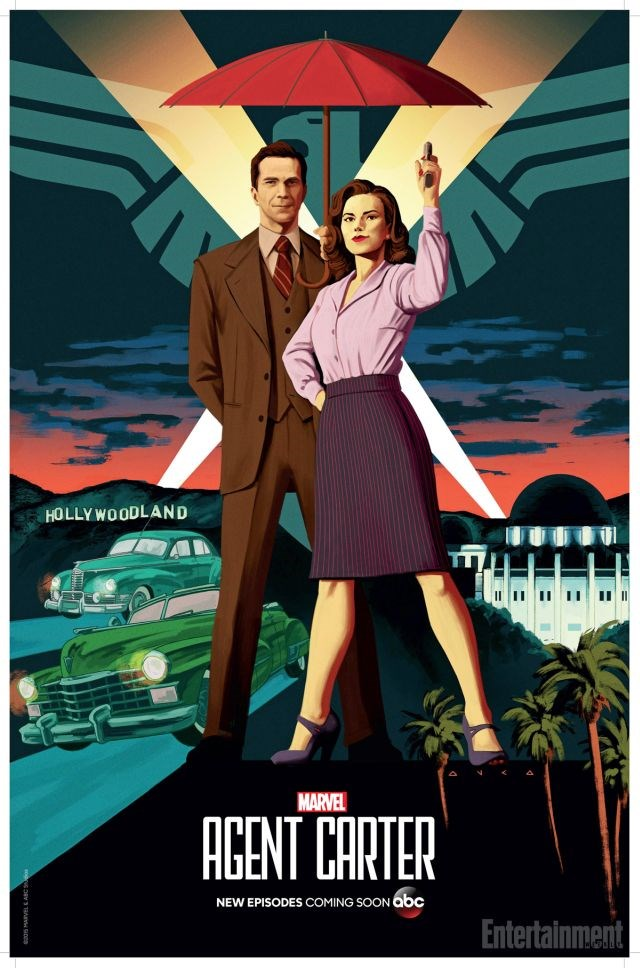 Agent Carter: il poster della seconda stagione realizzato per il Comic-Con