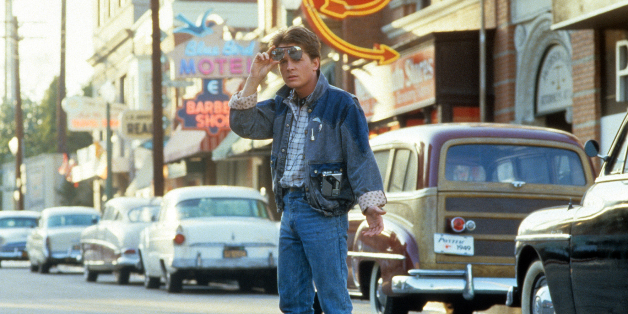Ritorno al futuro: Michael J. Fox in una scena del film