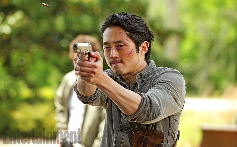 The Walking Dead: l'attore Steven Yeun in una scena della sesta stagione