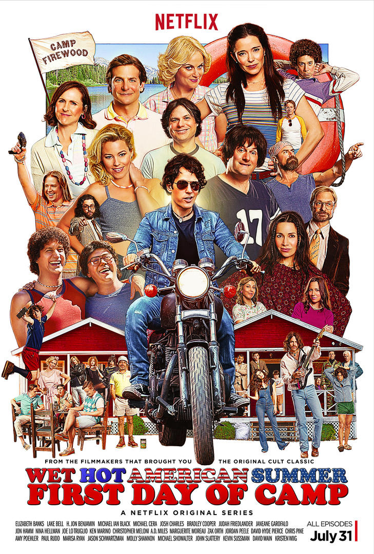 Wet Hot American Summer: First Day of Camp -  Un poster della serie di Netflix