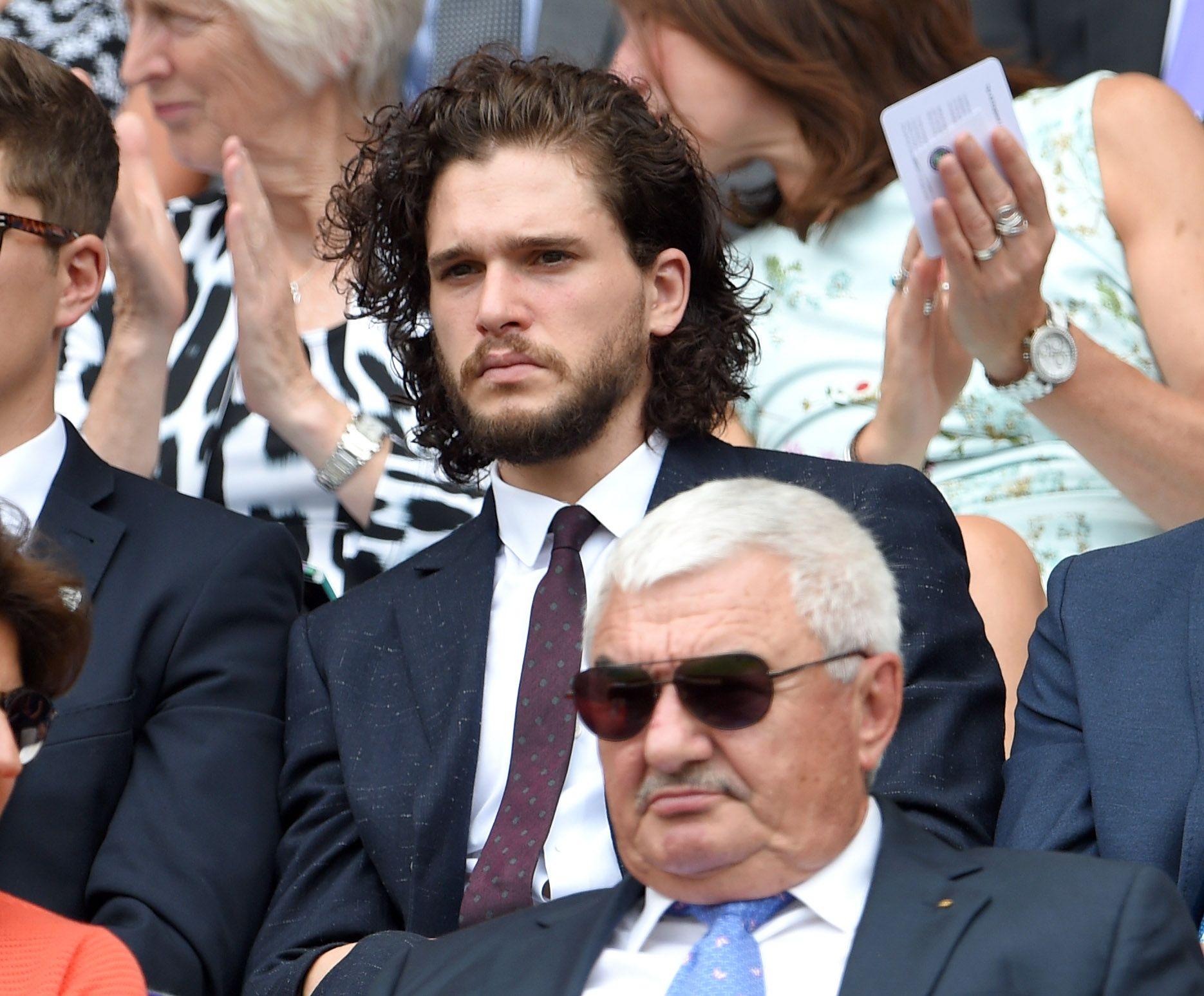 Kit Harington tra il pubblico di Wimbledon