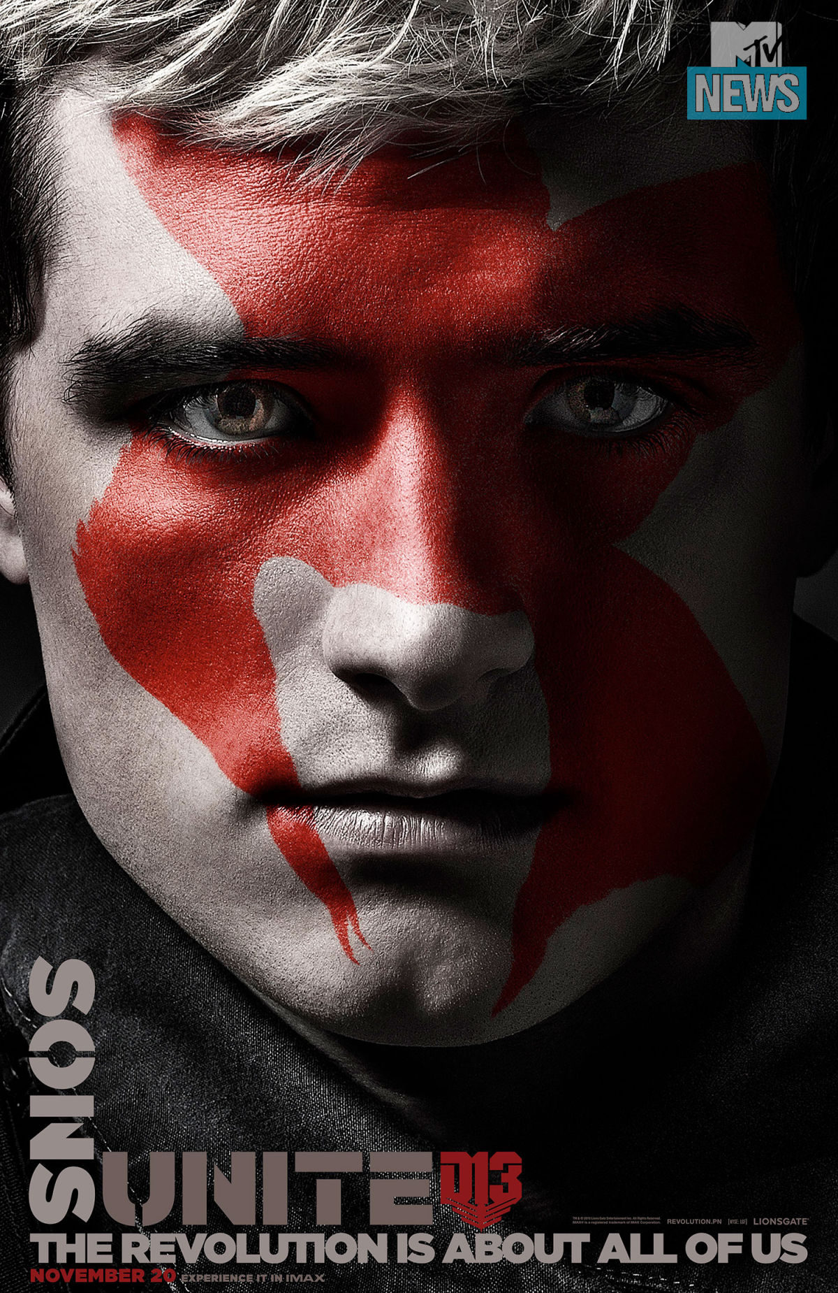 Hunger Games: il canto della rivolta - Parte 2: il character poster di Peeta