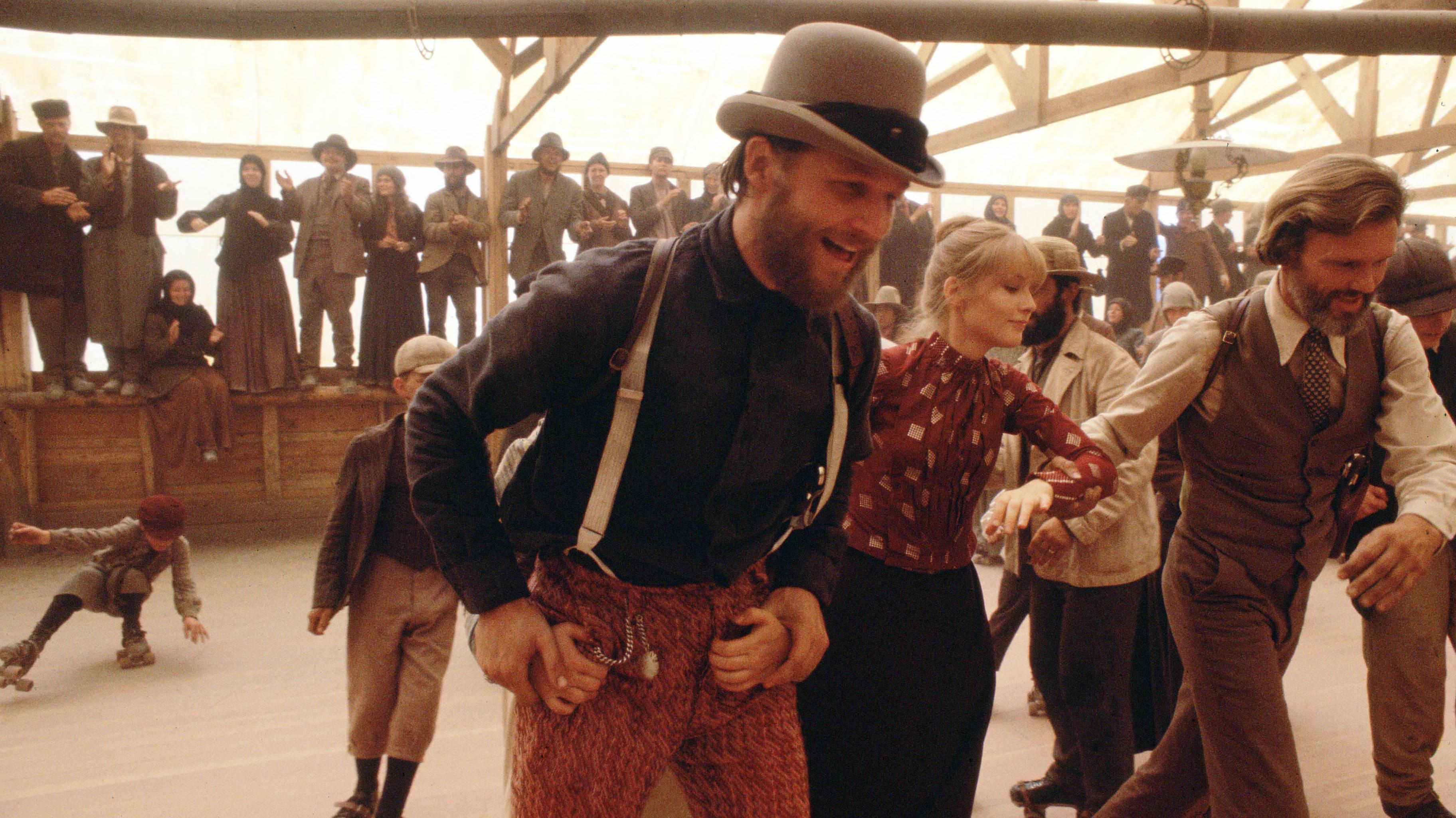 I cancelli del cielo: danza suo pattini per Jeff Bridges, Isabelle Huppert e Kris Kristofferson