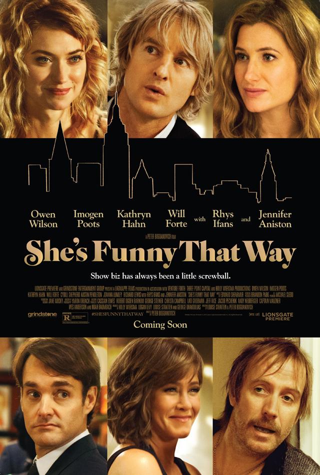 She's Funny That Way: la locandina ufficiale della commedia