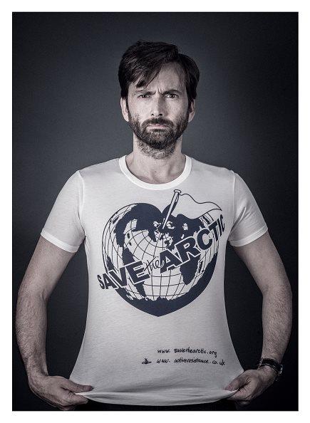Save the Arctic: l'attore David Tennant in una foto della campagna di Greenpeace