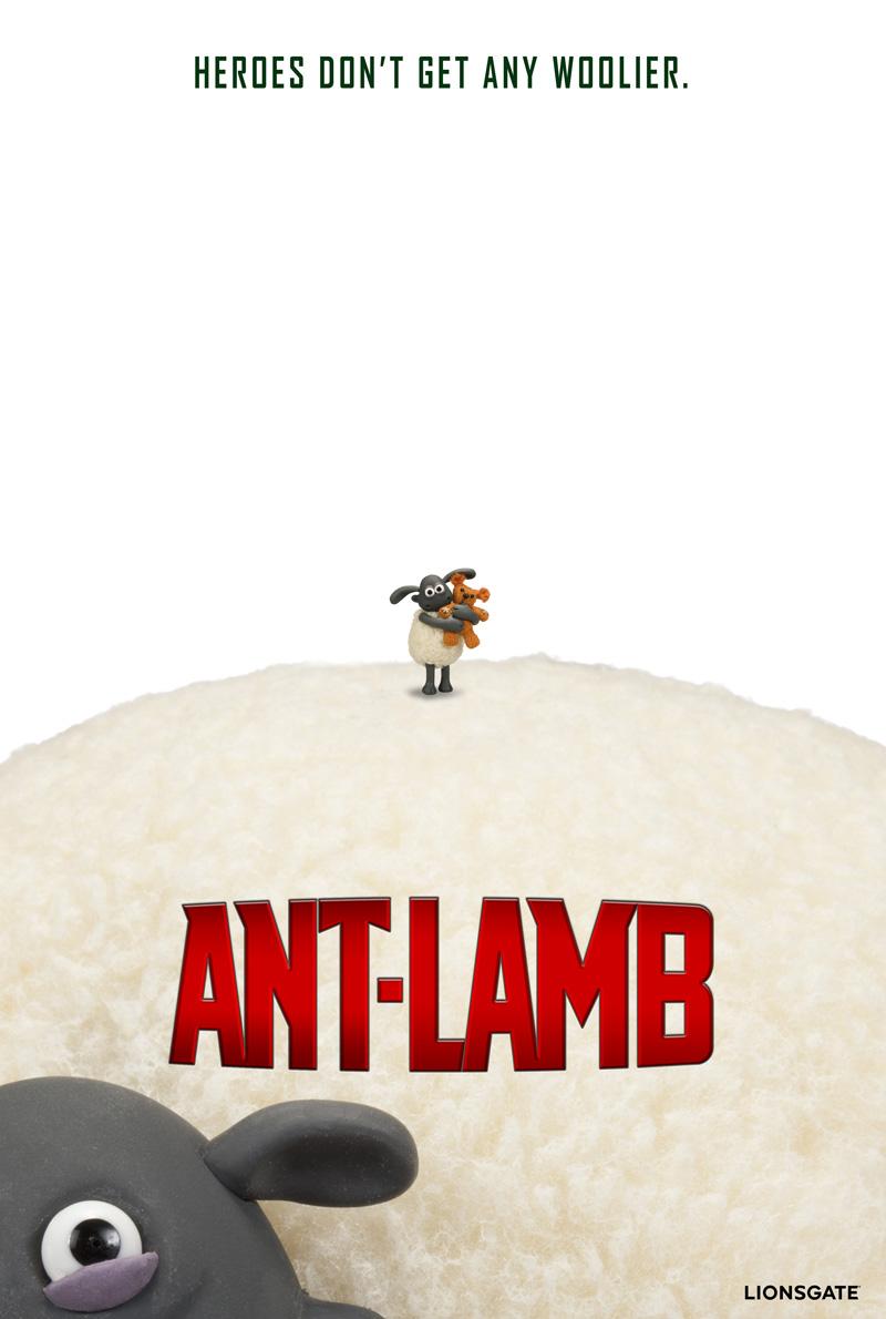 Ant-Lamb: il poster parodia firmato Aardman Studios