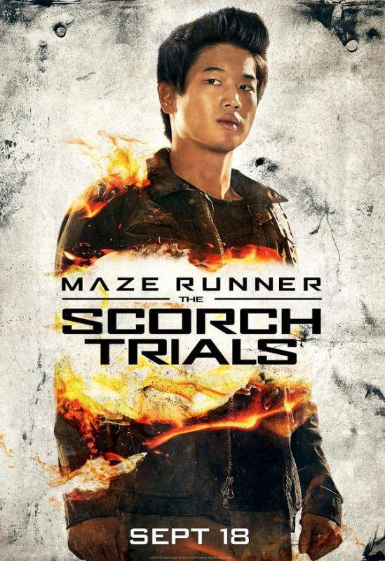 The Maze Runner: La fuga - Il character poster di Ki Hong Lee