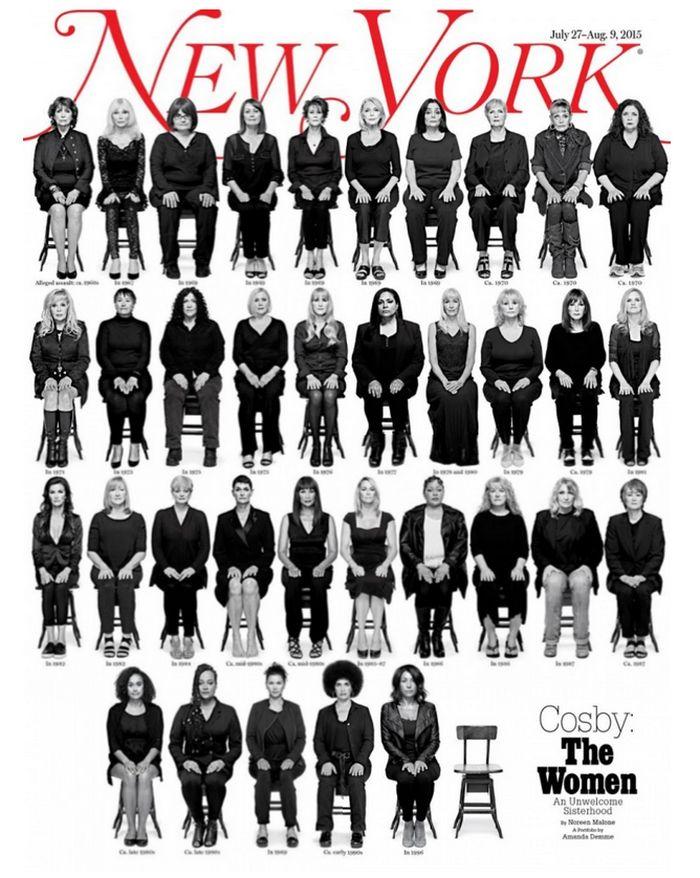 Bill Cosby: la copertina del New York magazine raccoglie le sue 35 accusatrici