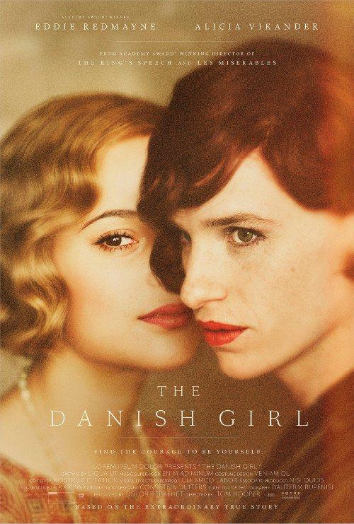 The Danish Girl - Eddie Redmayne con Alicia Vikander in un manifesto