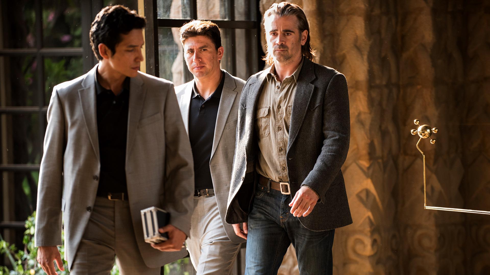 True Detective: Colin Farrell in una scena dell'episodio intitolato Black Maps and Motel Rooms
