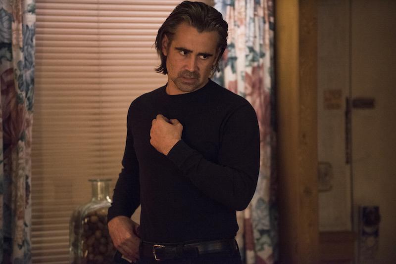 True Detective: l'attore Colin Farrell in una scena dell'episodio Black Maps and Motel Rooms