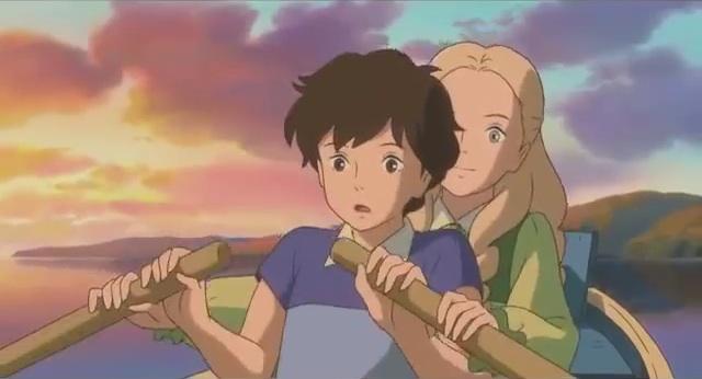 Quando c'era Marnie: Anna e Marnie su una barca in un momento del film animato
