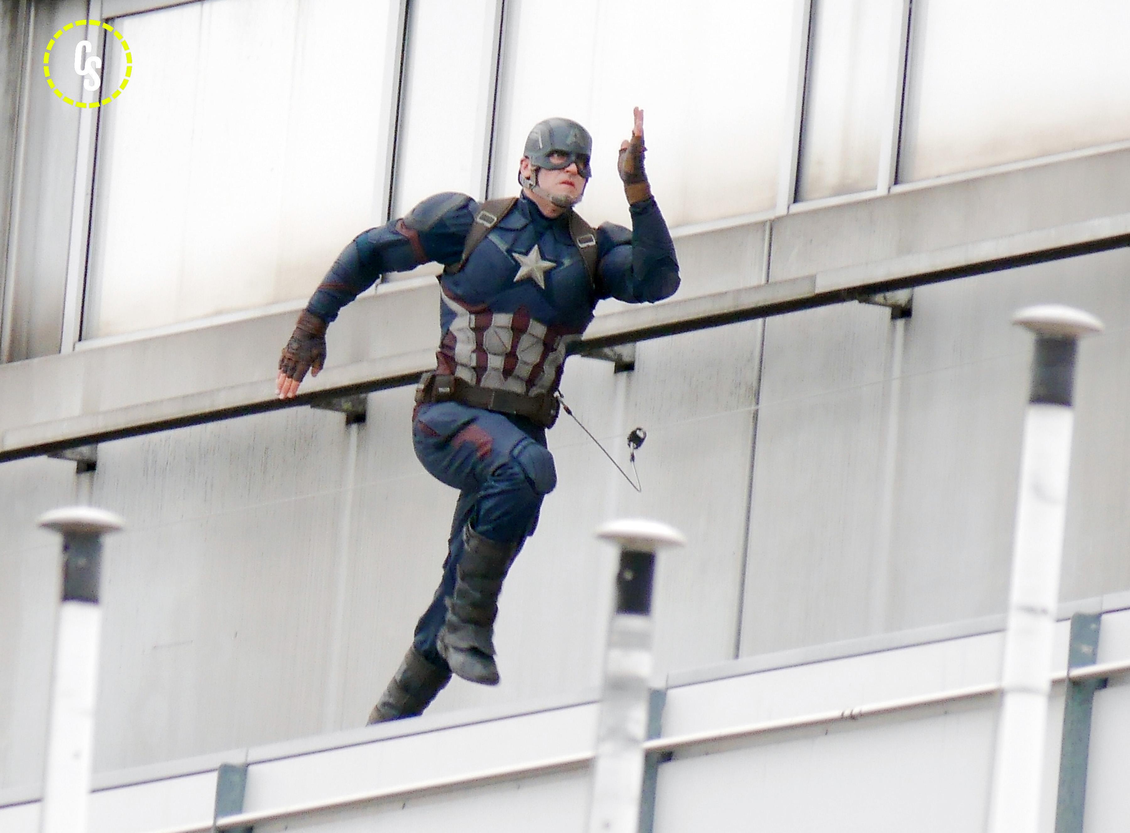 Captain America: Civil War - Captain America in azione sul set di Berlino