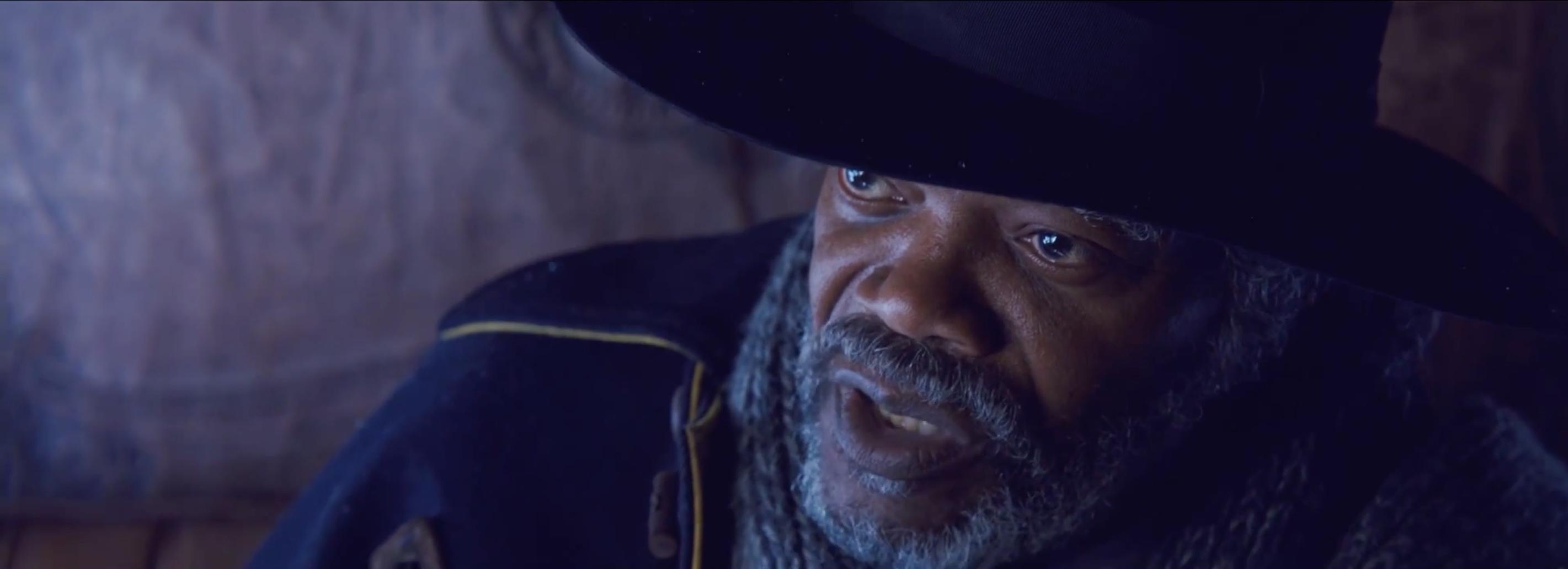 The Hateful Eight: Samuel L. Jackson in una scena del teaser trailer del film di Tarantino