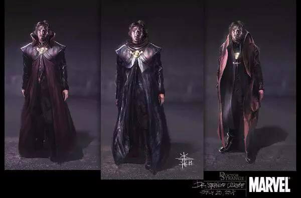 Doctor Strange - concept art del costume di Cumberbatch