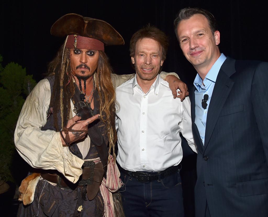 Johnny Depp, Jerry Bruckheimer, Sean Bailey al D23