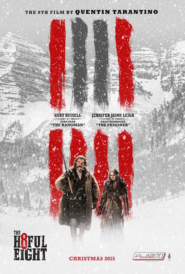 The Hateful Eight: il character poster di Kurt Russell e Jennifer Jason Leigh