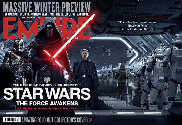 Star Wars: Episodio VII - Il Risveglio della Forza: la copertina di Empire dedicata al lato oscuro della Forza