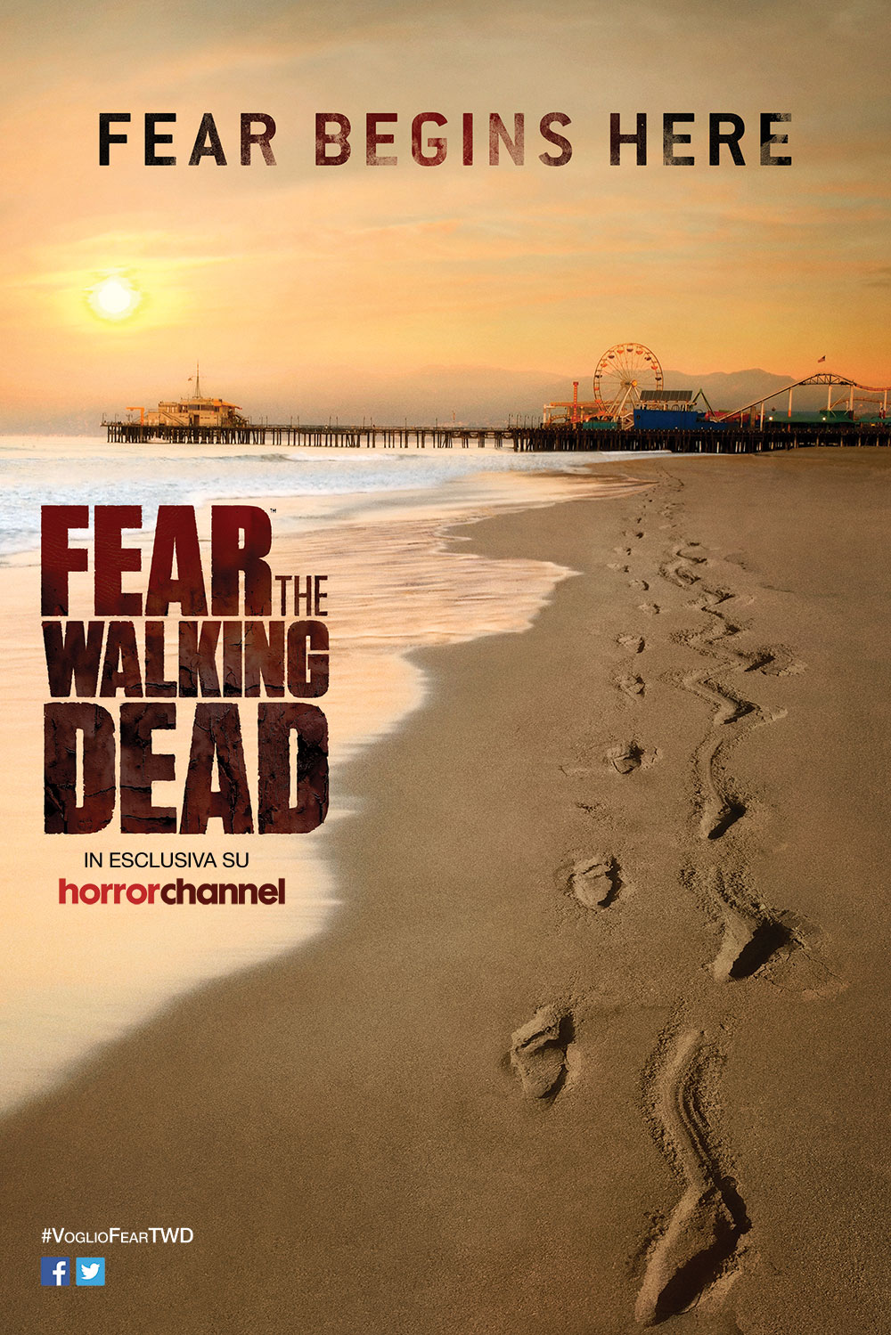 La locandina italiana di Fear The Walking Dead