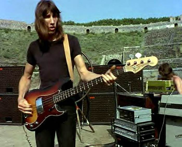 Pink Floyd: Live at Pompeii, Roger Waters in un'immagine del documentario