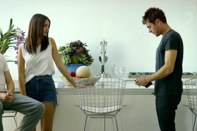Emily Ratajkowski e Zac Efron in un momento di We Are Your Friends