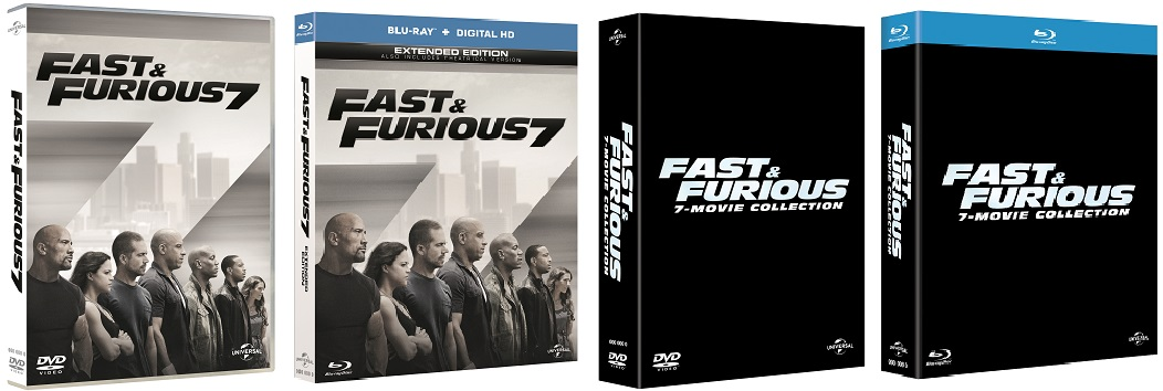 Le cover homevideo di Fast & Furious 7