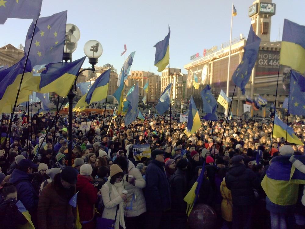 Winter on Fire: una scena di folla del documentario girato da Evgeny Afineevsky