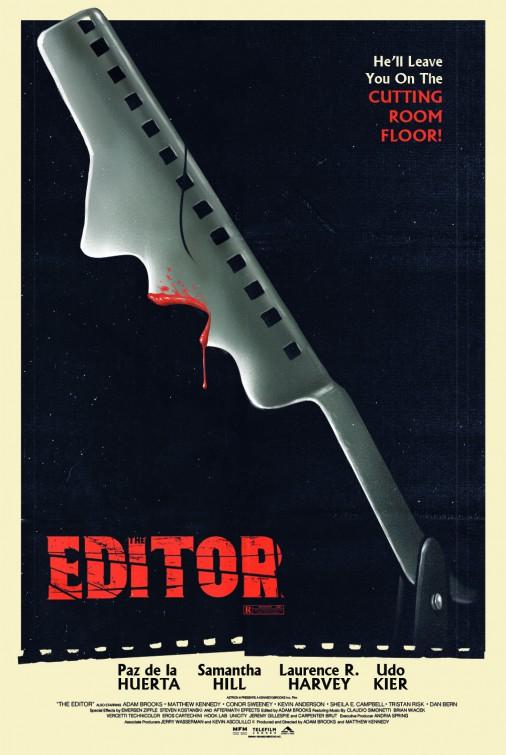 The Editor: una nuova stilizzata locandina