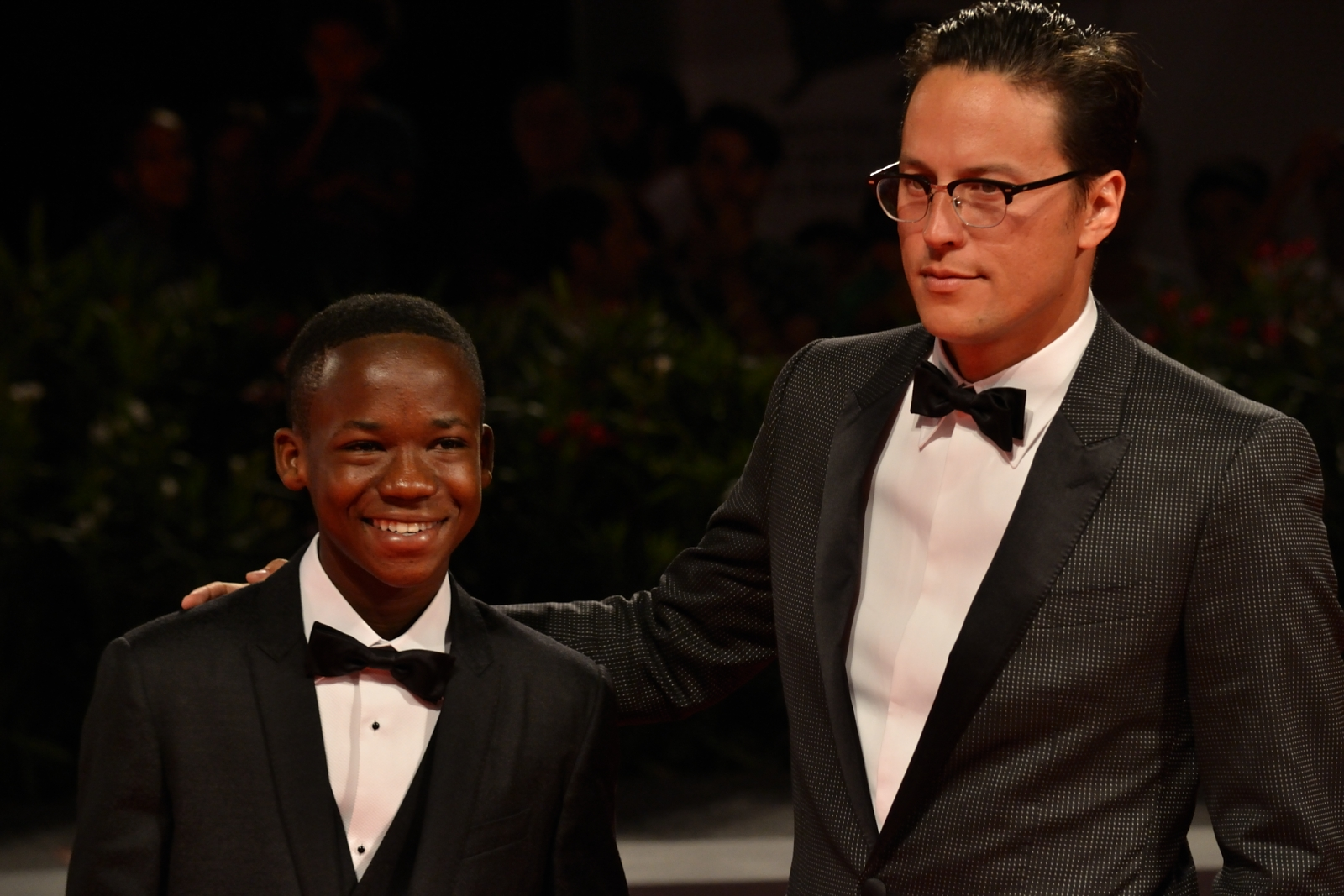 Venezia 2015:Abraham Attah e Cary Fukunaga sul red carpet