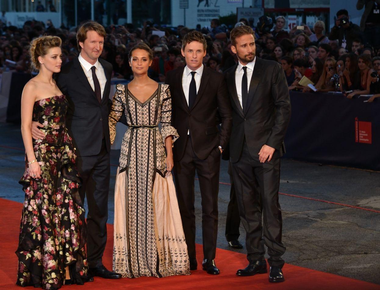 Venezia 2015: il cast di The Danish Girl sul red carpet