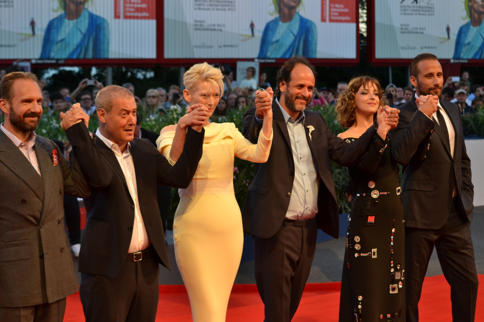 Venezia 2015: il cast di A Bigger Splash sul red carpet