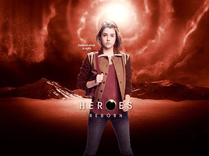 Heroes Reborn: Gaitlin Green in un poster promozionale