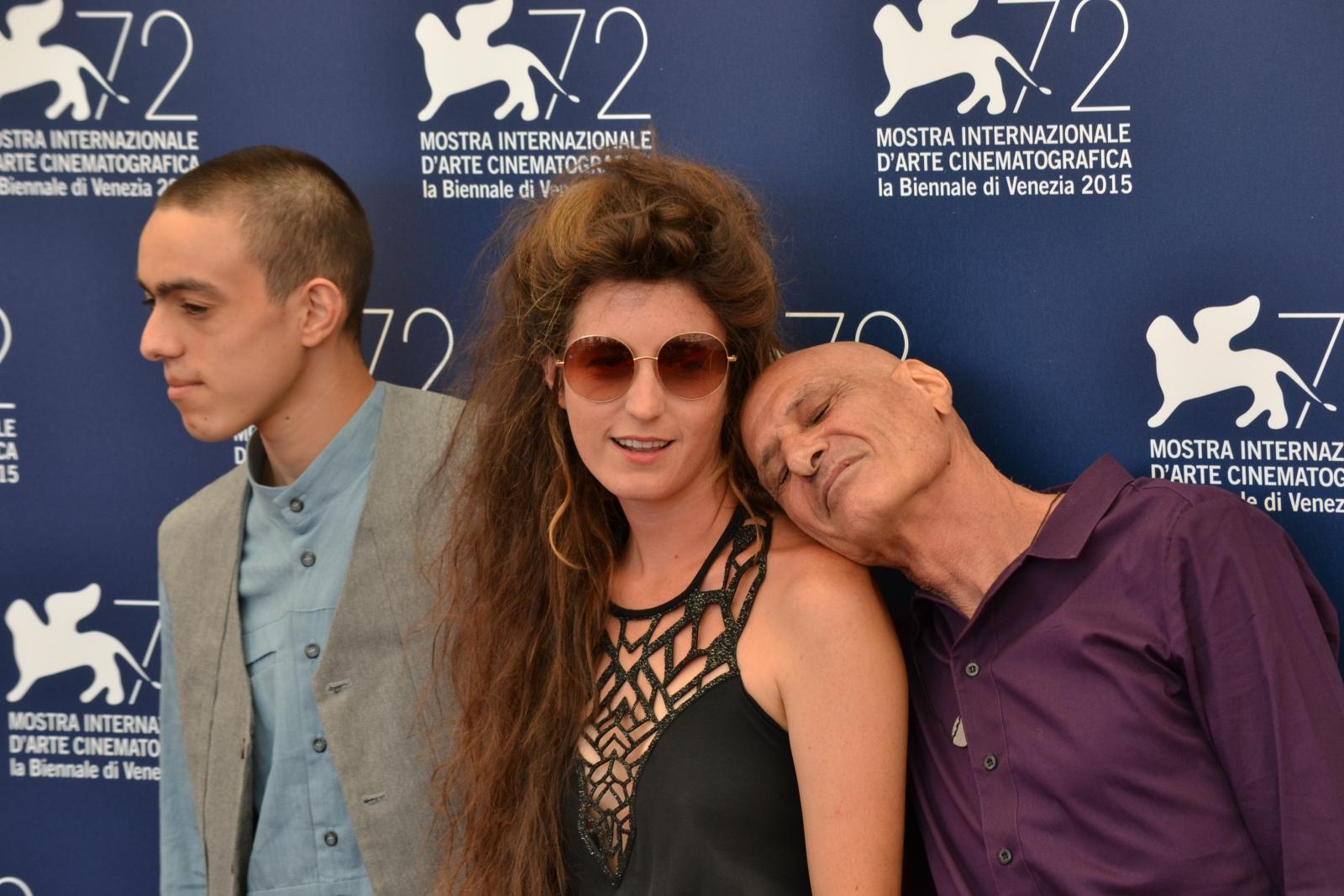 Venezia 2015: Hadar Morag, Muhammad Da'as, Yuval Gurevich al photocall di Lama Azavtani (Why Hast Thou Forsaken Me)