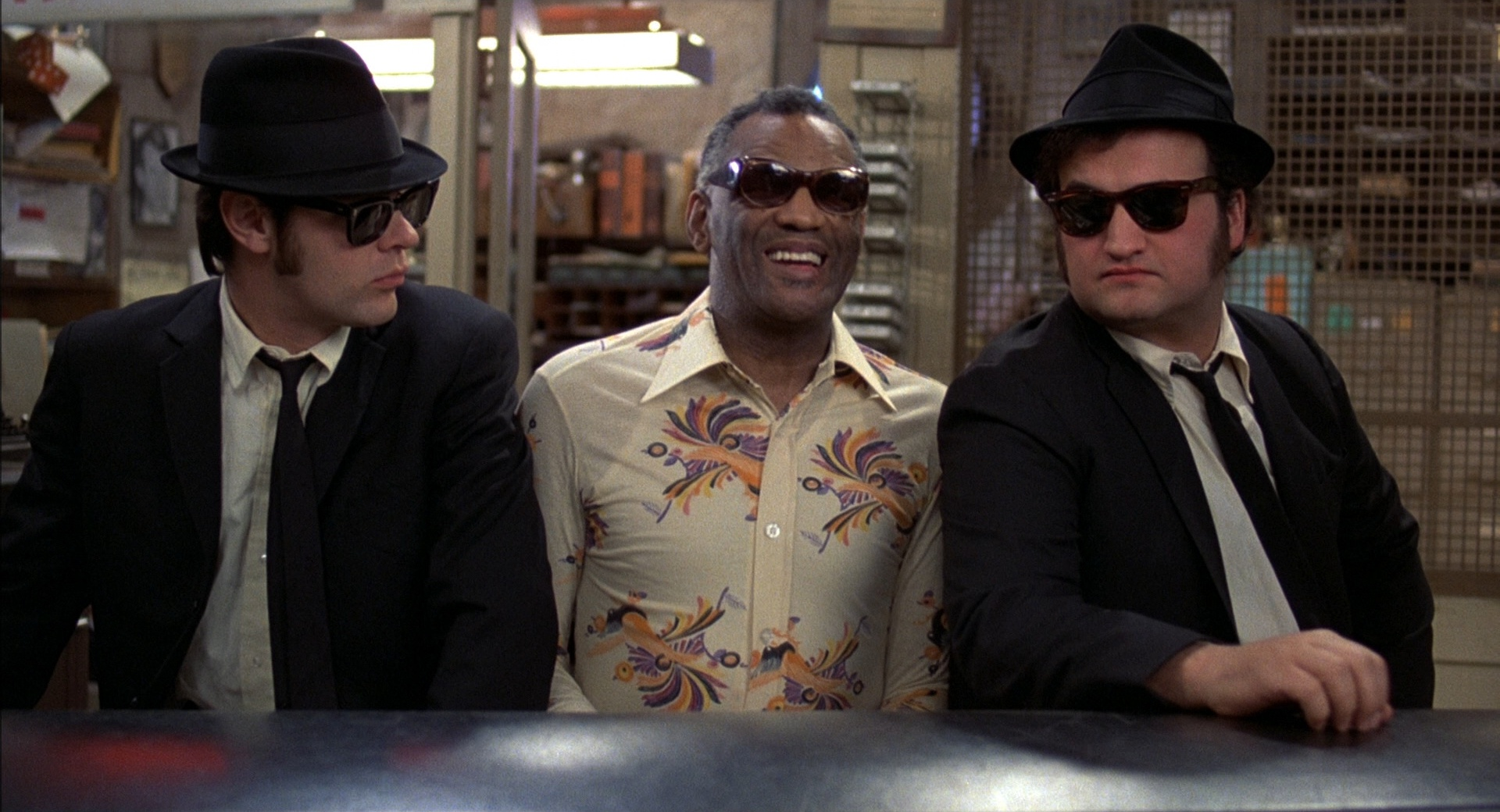 Dan Aykroyd, John Belushi e Ray Charles in The Blues Brothers