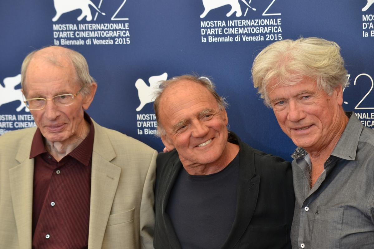 Venezia 2015: Brino Ganz, Heinz Lieven e Jurgen Prochnow al photocall di Remember