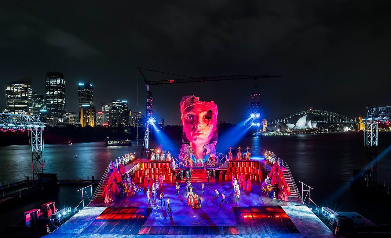 Aida on Sydney Harbour: un'immagine tratta dallo spettacolo operistico
