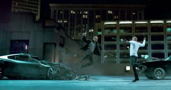 Una scena di Fast & Furious 7