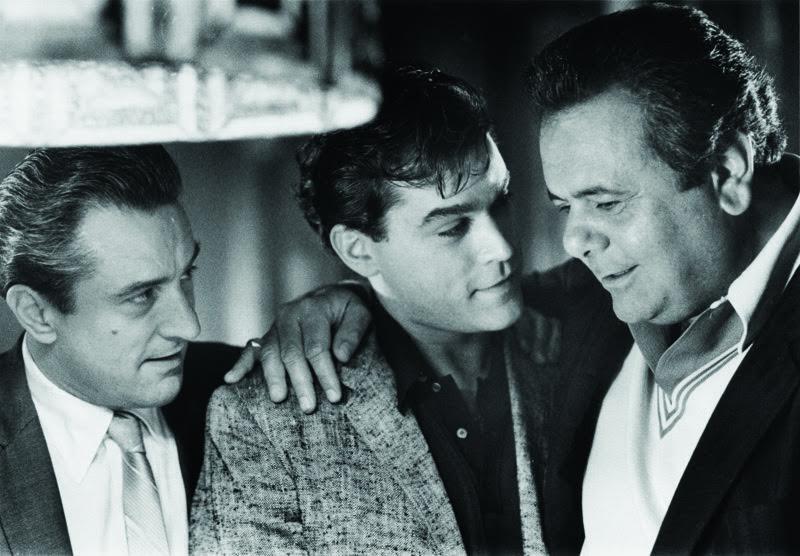 Robert De Niro, Ray Liotta e Paul Sorvino in Quei bravi ragazzi