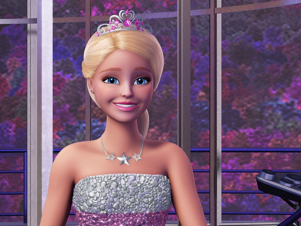 Barbie Principessa Rock: la Principessa Courtney in un'immagine del film animato