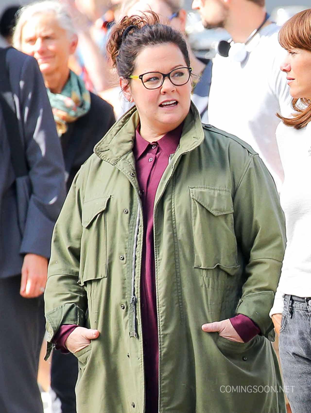 Ghostbusters: un'immagine di Melissa McCarthy durante le riprese
