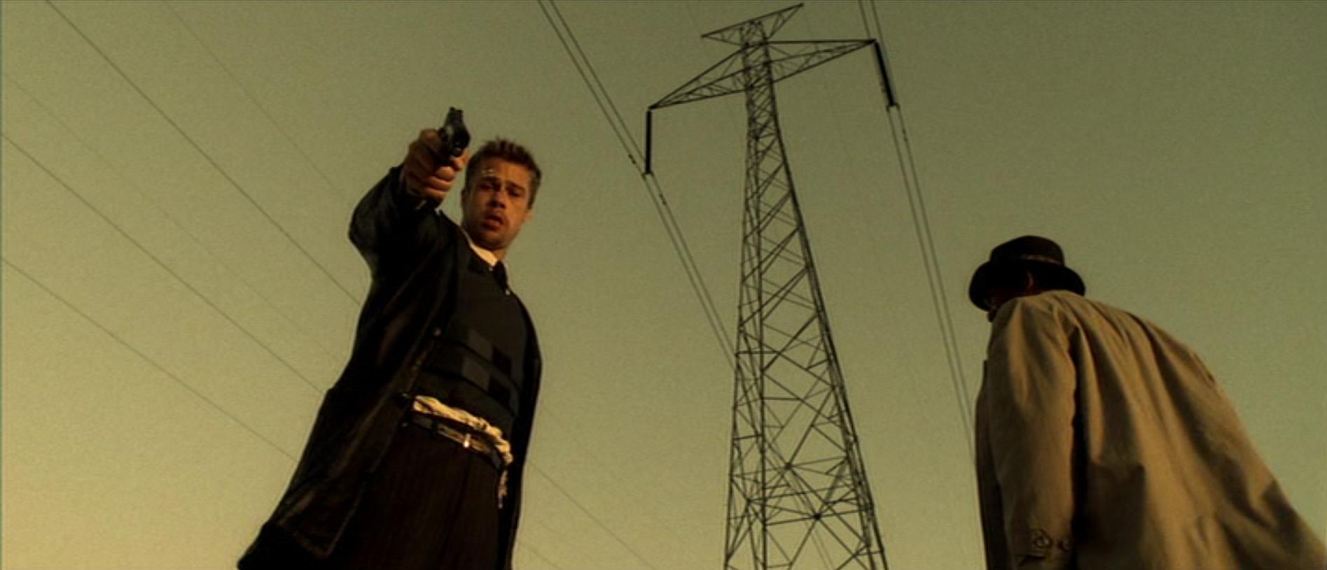 Morgan Freeman e Brad Pitt in una immagine di SEVEN