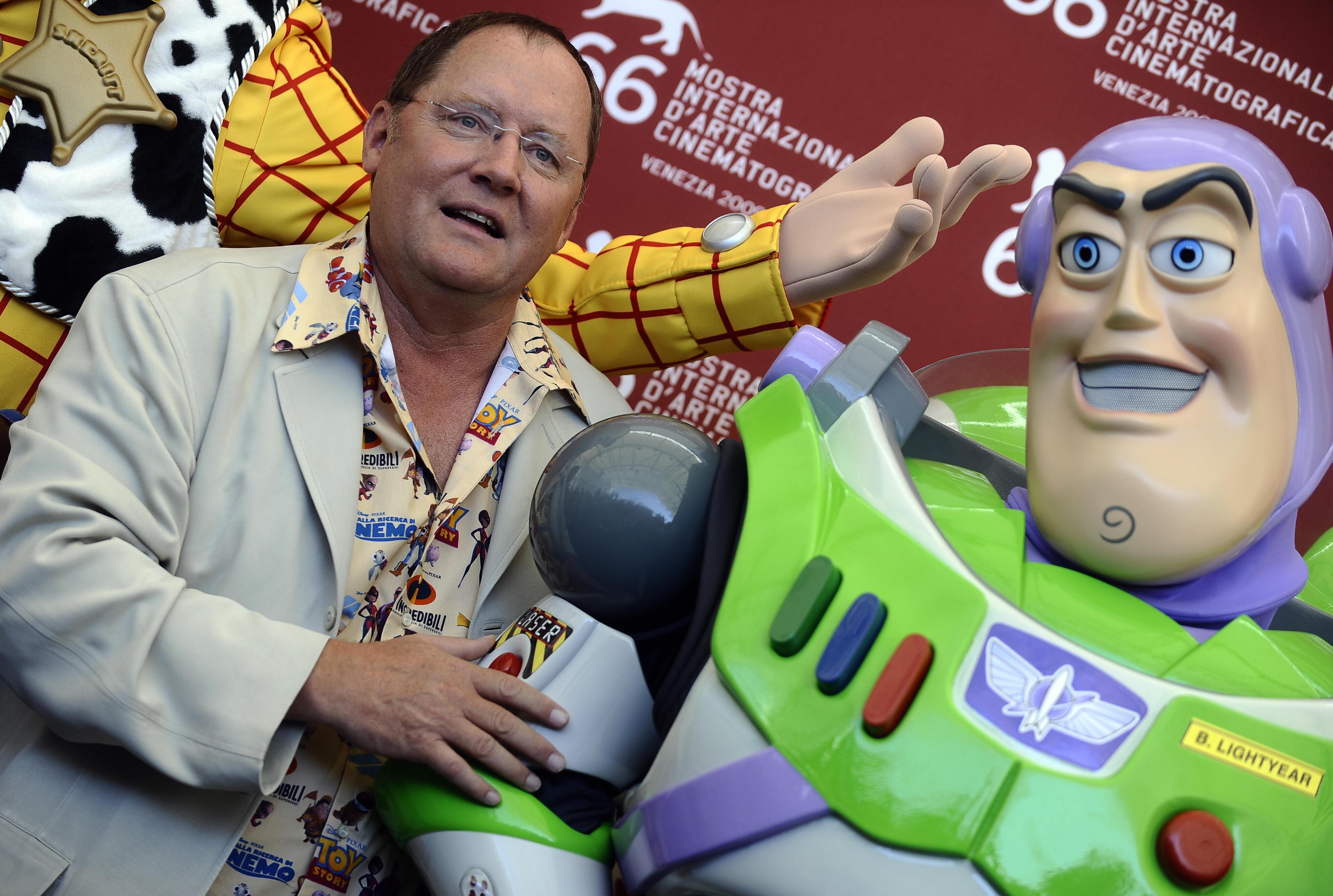 Venezia 2009: John Lasseter prima di ricevere il Leone d'Oro alla carriera