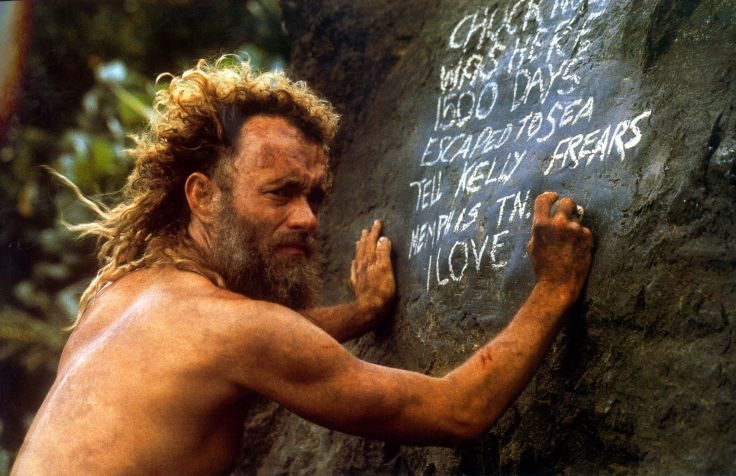Cast Away: Tom Hanks in una scena del film